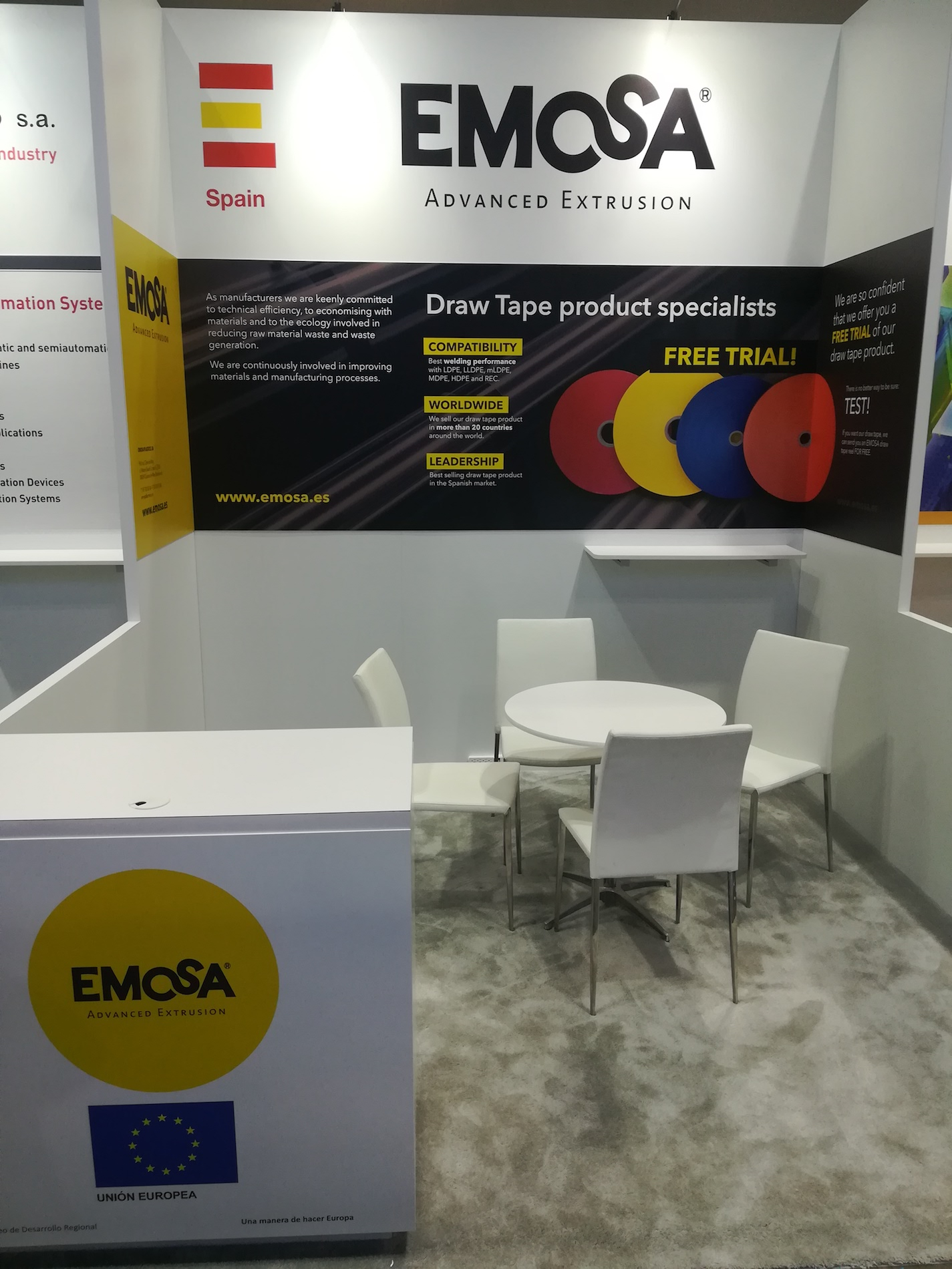 NPE2018 stand EMOSA